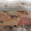 tekening in zout landschap